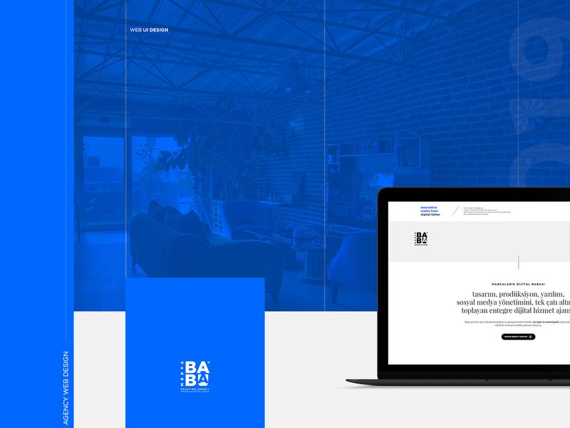 Agency Web Design ui blue simple webdesign web agency