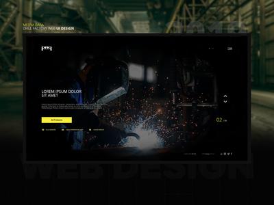 Factory Website UI Design