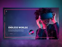 VR Landing Page Design