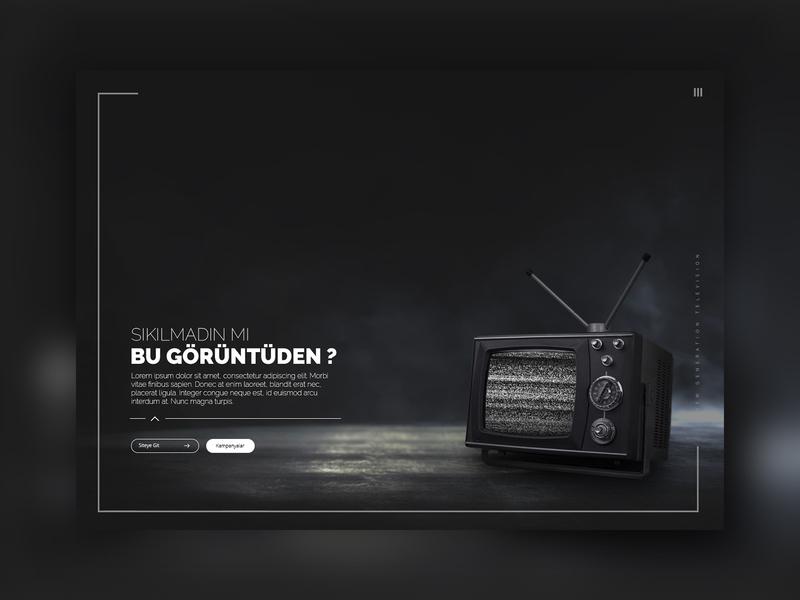 Old Television Website Design responsive design darker page black page landing page ui design website design old television television old