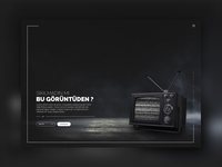 Old Television Website Design