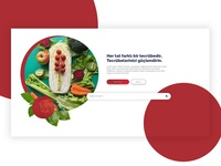 Catering Company | Food Website Design chefs chef search bar circle foodie uidesign webdesign website company website red food catering