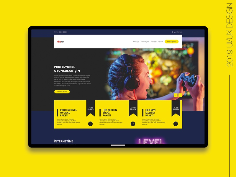 Ethernet Campaign Page frontend development developer yellows uiux uidesign webdesign yellow campaign campaign page wifi ethernet