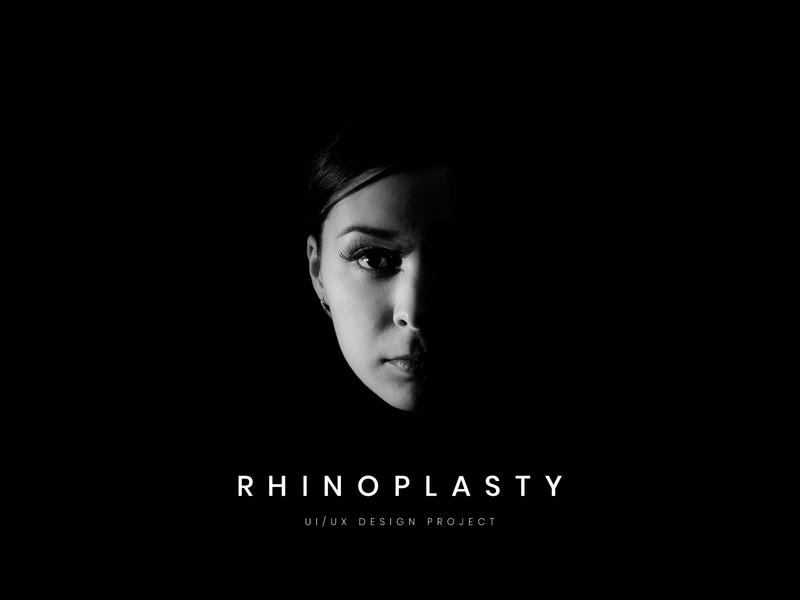 Rhinoplasty UI/UX Design | Surgery Website | Black-White health responsive uiux uidesign website doctor rhinoplasty surgery white black