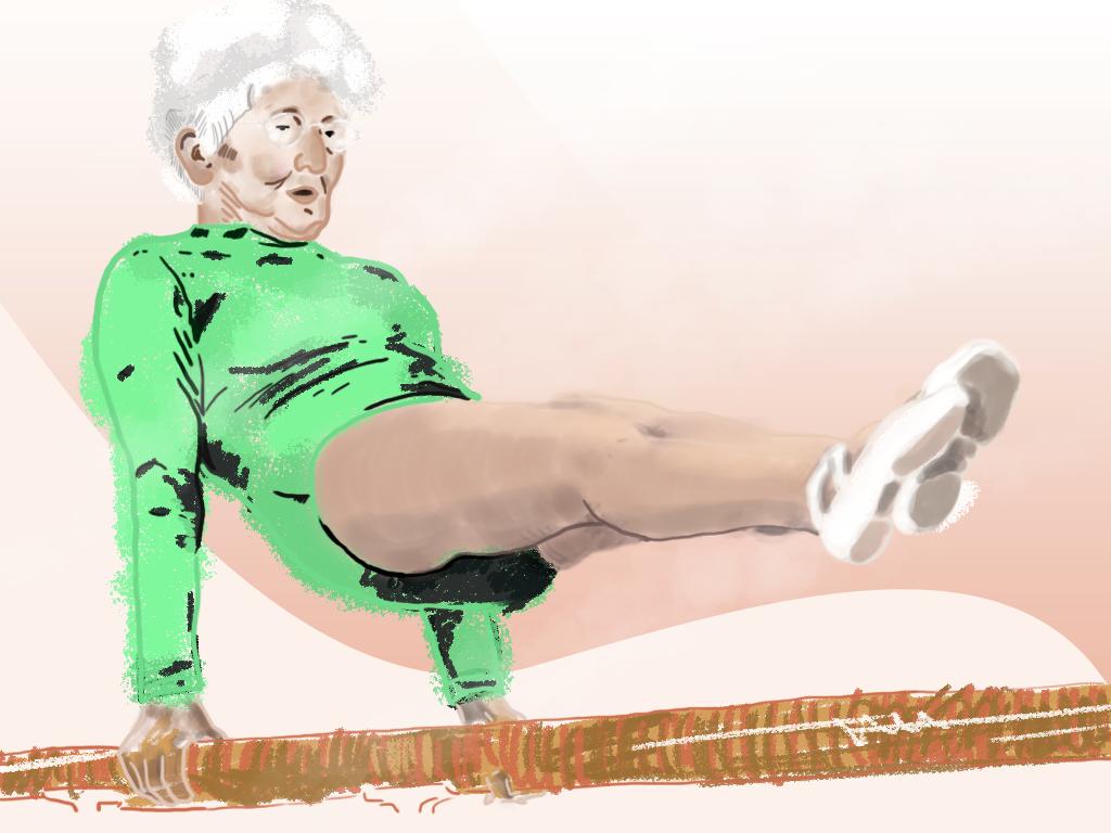 Healthy Grandma   Digital illustration activity power energy sport gradient art digital design style illustrator cc illustrator art textures ehealth exercises brush illustration