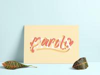 Parole Parole | Typographic poster