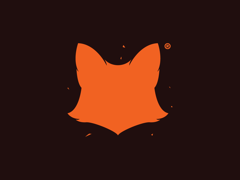 madfox logo+symbol letter illustration football print minimal black symbol logo