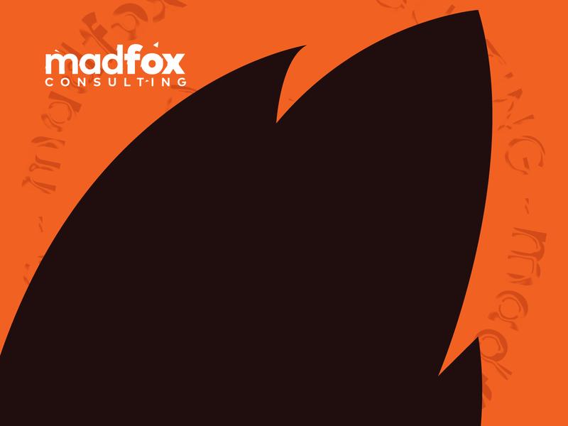 madfox logo+symbol vector design letter illustration football print minimal symbol black logo