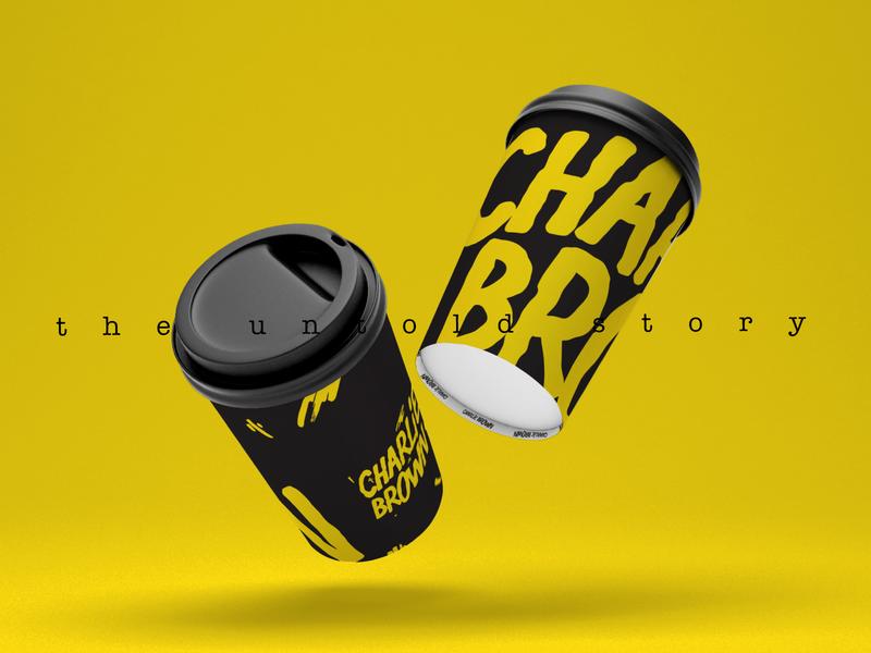 Charlie Papercup football design print black symbol logo minimal illustration branding vector papercup