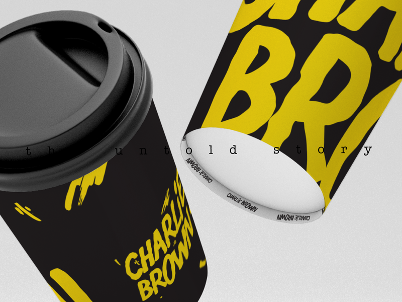 Charlie Papercup letter football vector design illustration print minimal black symbol logo