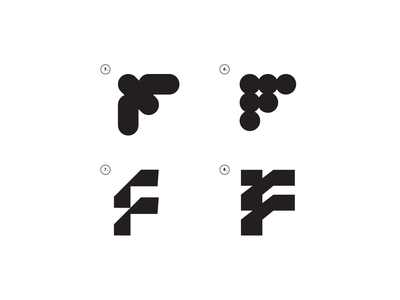 Exploring the F letter line vector typography minimal black symbol logo