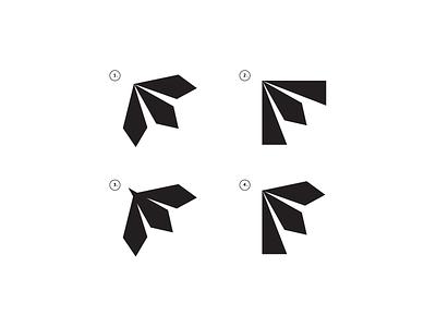 Exploring the F branding design line letter typography minimal black symbol logo
