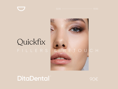 DitaDental Quickfix dental color palette line branding design minimal black symbol logo