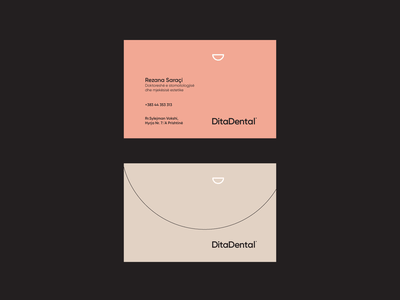 DitaDental B Cards dental business card typography vector branding illustration design minimal black symbol logo