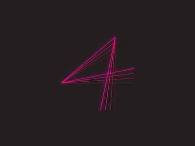 Exploring № 4 branding illustration vector line letter symbol typography minimal design logo