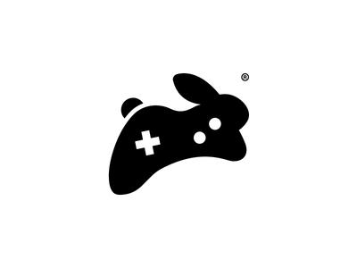 Golden Rabbit, Logo Symbol minimal symbol logo store games online gold rabbit joystick