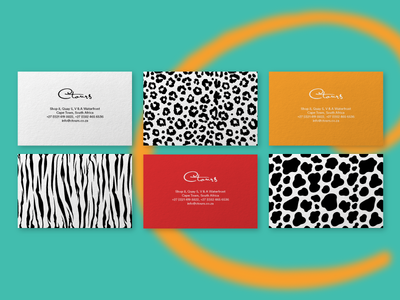 Business Cards, Safari Patterns turquoise zebra color pattern print businesscards capetown africa safari