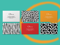 Business Cards, Safari Patterns