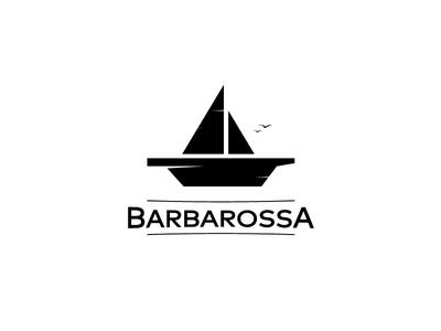 Barbarossa Logo Symbol pirate minimal symbol logo rope sail ship napkins birds food barbarossa plate