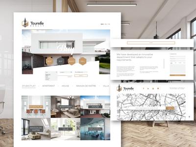 Real Estate Subpage realestate tourelle loading slide homepage site minimal realty web