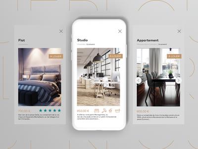 Real Estate Subpage Mobile clean minimal nextbutton rating icons details tourelle web mobile realestate