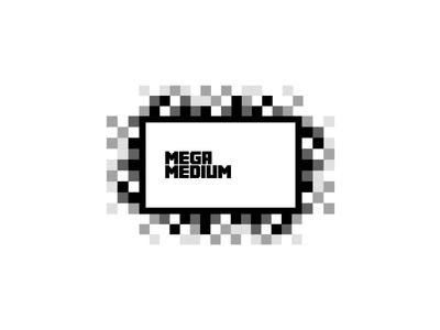 Pixel by Pixel logo projector medium led white black square screen pixel