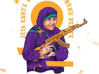 Mother Teresa & AK-47 motherteresa