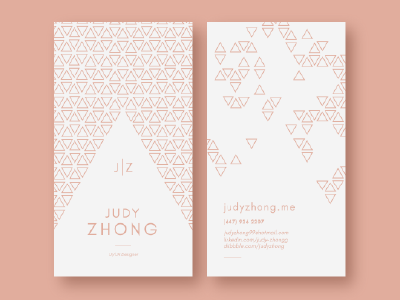 Personal Business Cards professional pattern triangle minimal design business business card