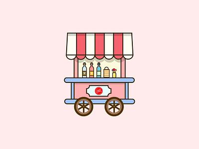 Candy Shop on Wheels cartoon graphic art candy vector candy shop candy wheel vector art vector artwork adobe illustrator graphics vector illustration design