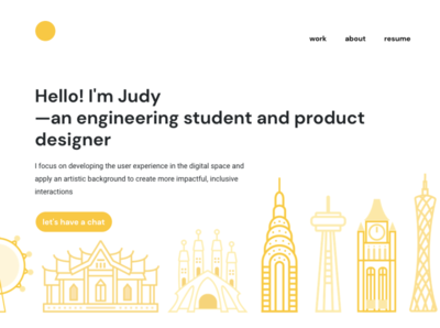 New personal website design