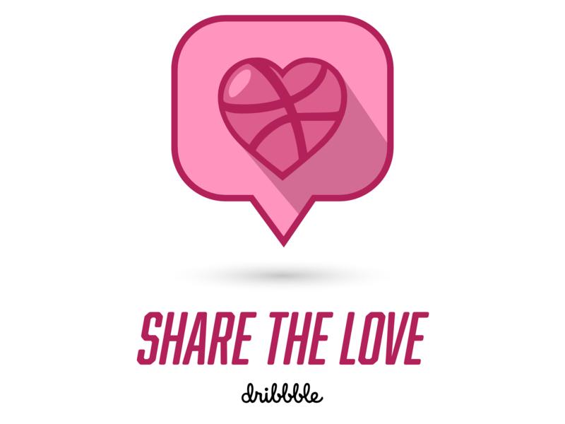 Share The Love Icon share button identity illustrator uidesign design user interface ui icon artwork icon