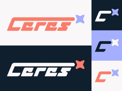 Ceres logo shooting star 80s ceres star retro space design logo illustration vector