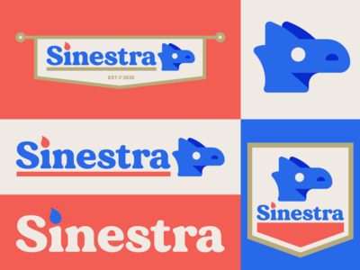 Sinestra logo branding logo banner medieval fire dragon