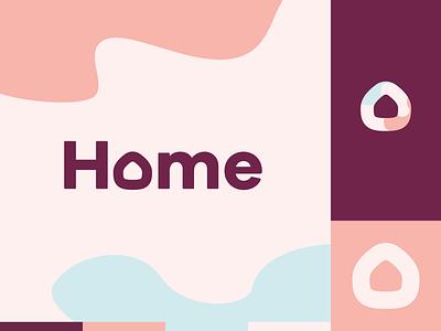 Peachtober day 1: Home branding design illustrator peachtober logo house home illustration vector
