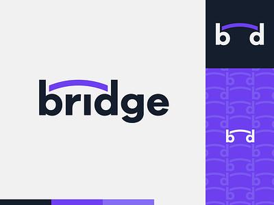 Peachtober day 3: Bridge logotype bridge peachtober flat  design design logo illustration vector