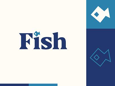 Peachtober day 4: Fish peachtober logomark illustrator flat  design design logo illustration vector fish
