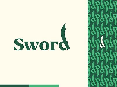 Peachtober day 5: Sword flat peachtober wordmark sword illustrator flat  design illustration vector logo design