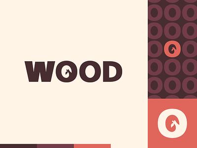 Peachtober day 6: Wood branch wood peachtober illustrator flat  design design logo illustration vector