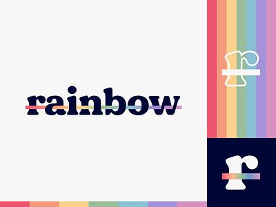 Peachtober day 9: Rainbow gradient wordmark peachtober r rainbows illustrator flat  design design logo illustration vector