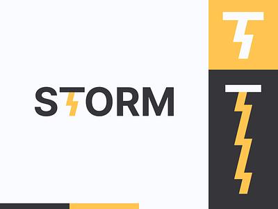 Peachtober day 14: Storm peachtober storm cloud lightning bolt lightning illustrator flat  design design logo illustration vector