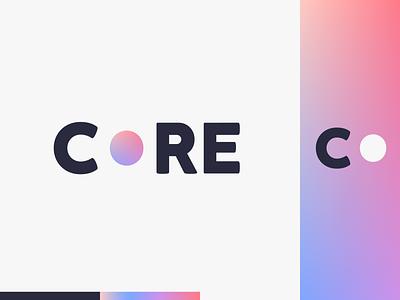 Peachtober day 15: Core gradient circle core peachtober flat illustrator flat  design design logo illustration vector