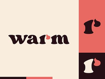 Peachtober day 18: Warm serif peachtober fireart flat illustrator flat  design design logo illustration vector