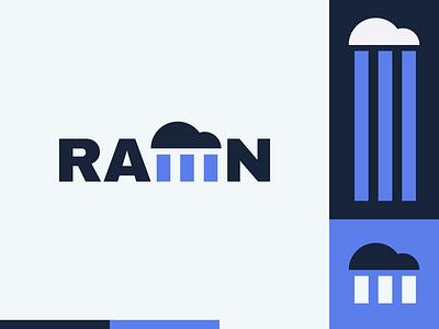 Peachtober day 22: Rain rain cloud typography branding peachtober illustrator flat  design design logo illustration vector