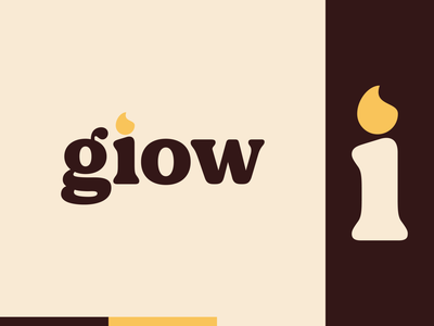 Peachtober day 23: Glow flame glow candle peachtober branding typography illustrator flat  design design logo illustration vector