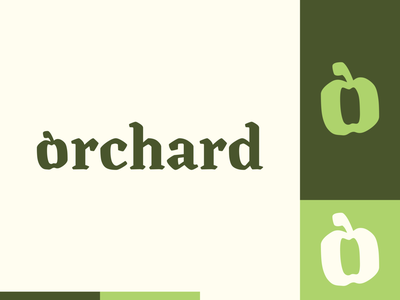 Peachtober day 27: Orchard apple orchard peachtober branding typography illustrator design logo illustration vector
