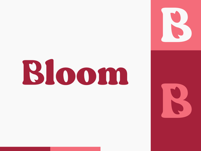 Peachtober day 28: Bloom heart vector tulip flower bloom typography branding peachtober illustrator design logo