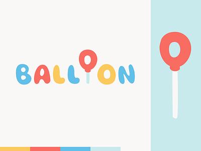 Peachtober day 30: Balloon balloon typography branding peachtober illustrator design logo vector