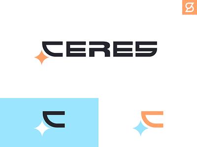 Ceres logo rebrand sci-fi space star icon typography branding illustration design logo vector