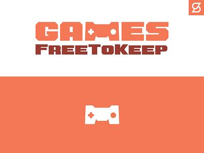 GamesFreeToKeep logo game gaming m controller branding design logo vector