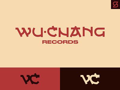 WuChang Records logo concept typography chinese asian oriental nopixel wuchang wutang branding vector logo